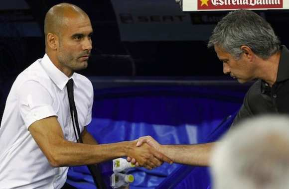 Photo : Mourinho et Guardiola se saluent