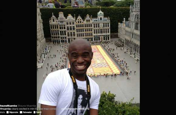 Photo: Muamba en Belgique
