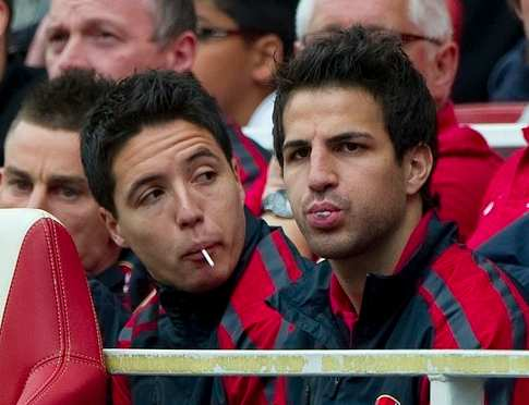 Photo : Nasri et Fabregas tirent le gueule