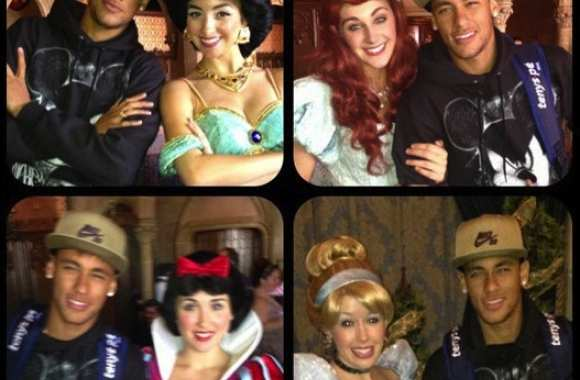 Photo : Neymar chez Mickey !