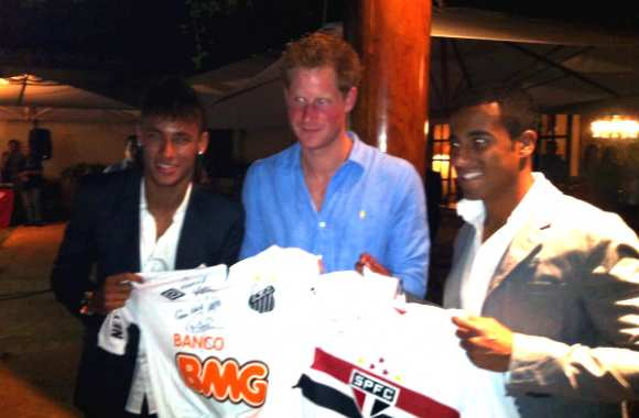 Photo : Neymar, Lucas et le Prince Harry