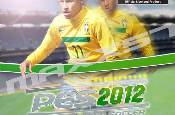 Photo : Neymar sur la couv' de PES 2012