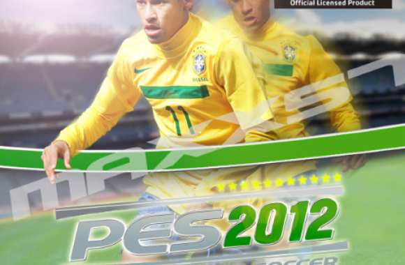 Photo : Neymar sur la couverture de PES 2012