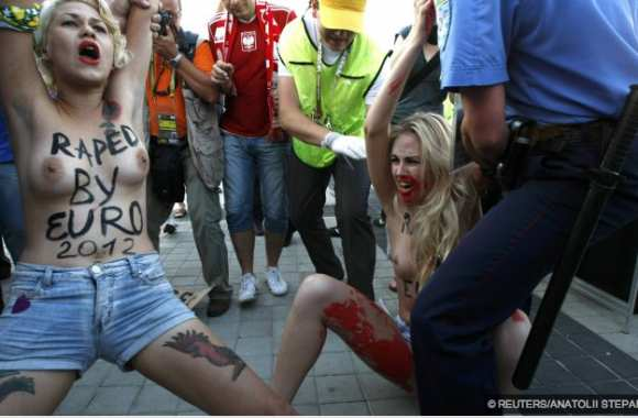 Photo : Nouvelle action de Femen