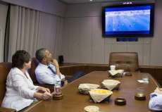 Photo : Obama devant les USA