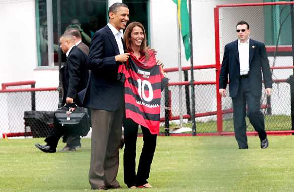 Photo : Obama flamenguista