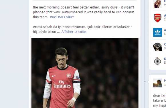 Photo : Özil s'excuse