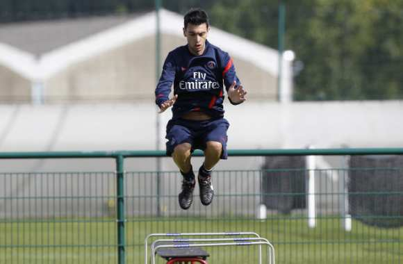 Photo : Pastore s'entraîne