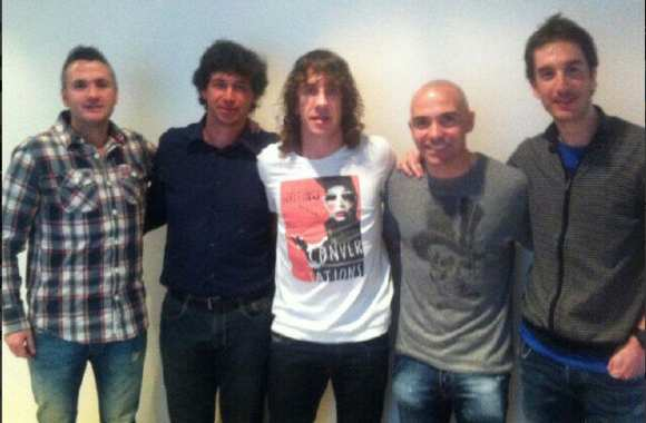 Photo: Puyol et ses potes