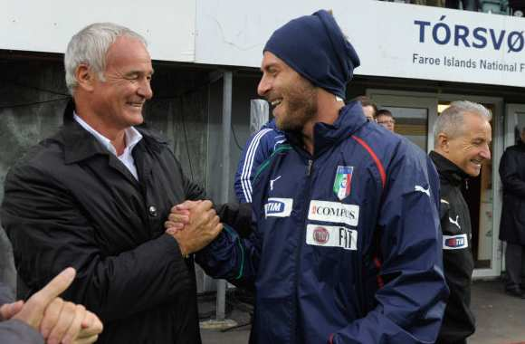 Photo : Ranieri avec De Rossi