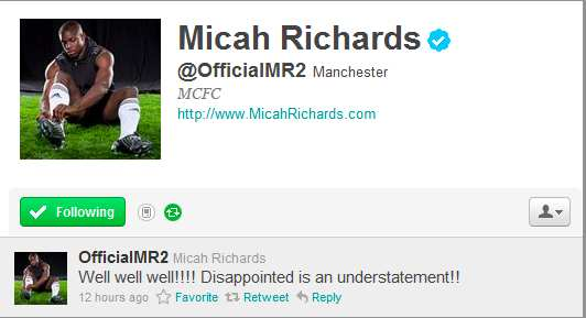 Photo: Richards s'épanche sur Twitter