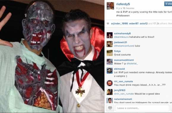 Photo: Rio et RVP fêtent Halloween