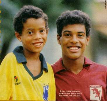Photo : Ronaldinho et son père