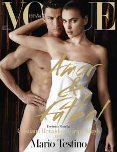 Photo : Ronaldo nu en Une de Vogue