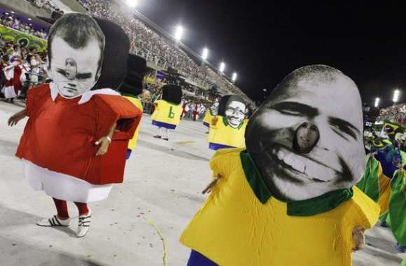 Photo : Rooney au carnaval de Rio