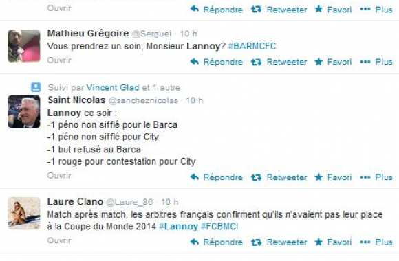 Photo : S.Lannoy incendié sur Twitter