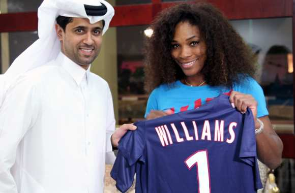 Photo: Serena a un maillot PSG