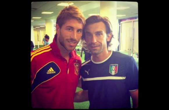 Photo : Sergio Ramos fan de Pirlo