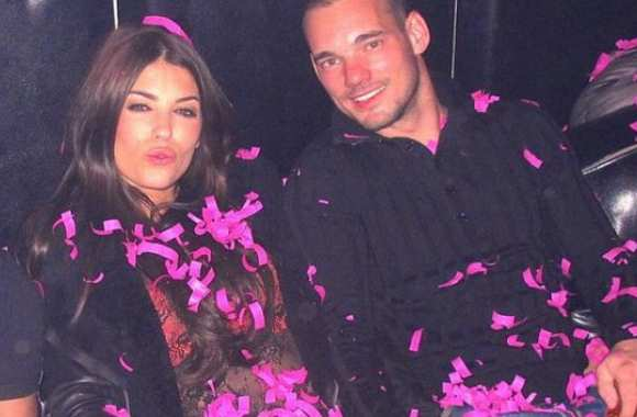 Photo : Sneijder et Madame