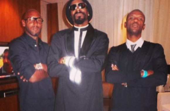 Photo : Snoop avec Anelka et Abidal