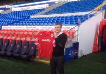 Photo : Solskjaer à Cardiff (off.)