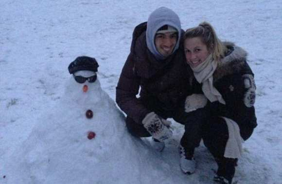 Photo: Suarez et son snowman