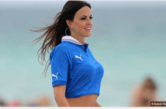 Photo : Supportrice italienne
