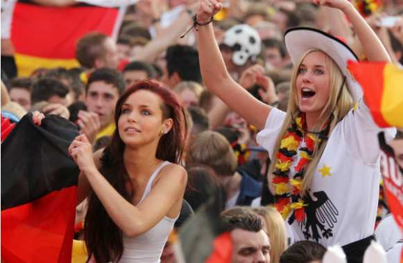 Photo : Supportrices allemandes