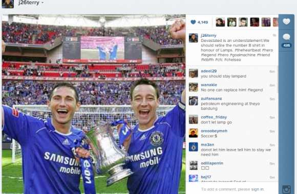 Photo : Terry soutient Lampard