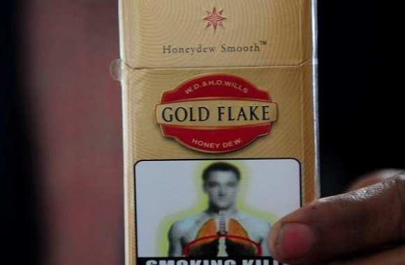 Photo: Terry sur les paquets de cigarette en Inde