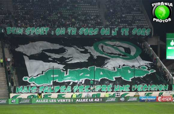 Photo : Tifo anti-BeIN Sport à Sainté