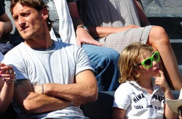 Photo : Totti en famille