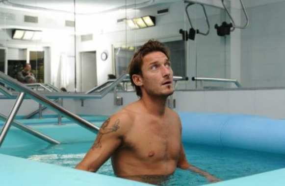 Photo : Totti se met bien