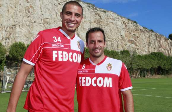 Photo : Trezeguet et Giuly à Monaco