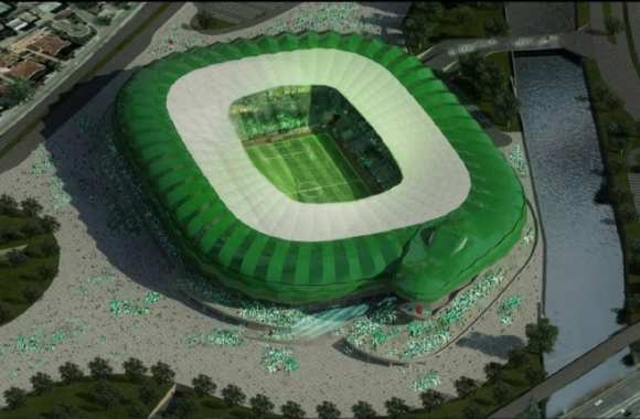 Photo: un stade crocodile en Turquie