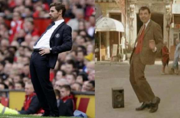 Photo : Villas-Boas et Mister Bean