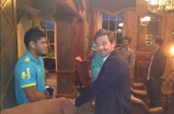 Photo : Villas-Boas rencontre Hulk