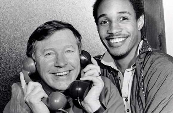 Photo Vintage: Paul Ince et Ferguson