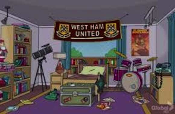 Photo : West Ham dans les Simpsons