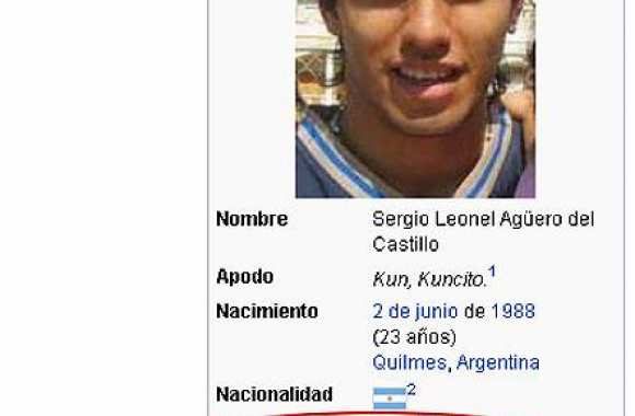 Photo : Wikipedia envoie Agüero au Real