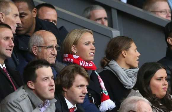 Photo : Wozniacki fan de Liverpool