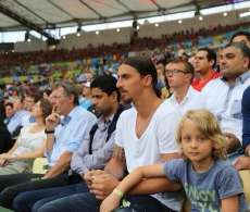 Photo : Zlatan et Nasser au Maracanã