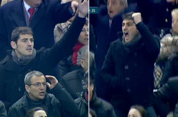 Photos: Casillas le supporter