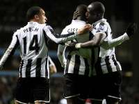 Papiss Cisse, James Perch et Moussa Sissoko (Newcastle)