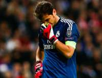 Iker Casillas, ce soir, apr�s la d�faite du Real