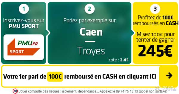 Pronostic Caen Troyes : Analyse, prono et cotes du match de Ligue 2