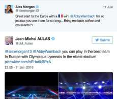 Quand Aulas drague Alex Morgan
