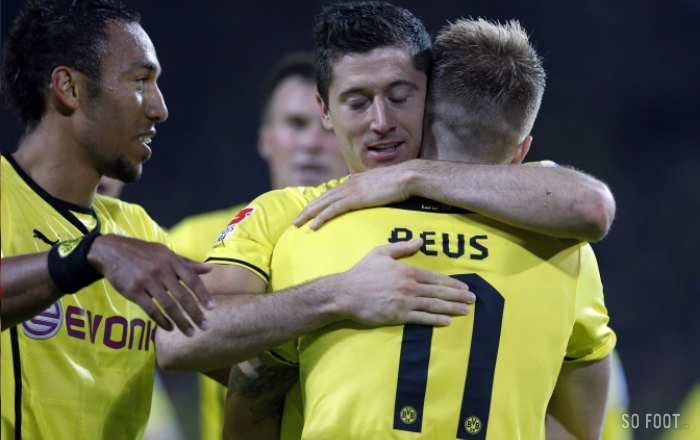 Reus vise, Lewandowski flingue