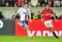Anthony R�veill�re (OL) face � Nen� (PSG) (Avril 2011)