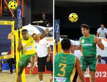 Romario battu au foot-volley